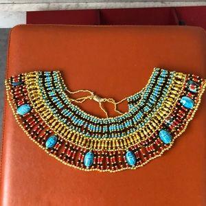 Spectacular ethnic hand beaded collar